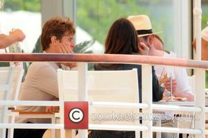 Willem Dafoe having lunch with friends on the terrace of hotel Du Cap during the 2009 Cannes Film Festival Cannes,...