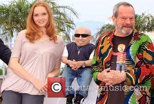 Lily Cole and Verne Troyer