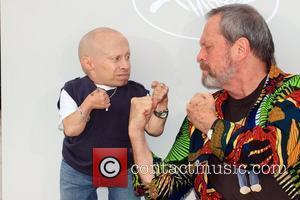 Verne Troyer and Terry Gilliam