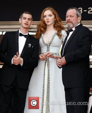 Andrew Garfield, Lily Cole and Terry Gilliam