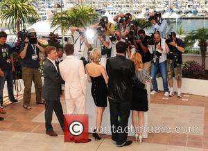 Brad Pitt, Diane Kruger and Quentin Tarantino