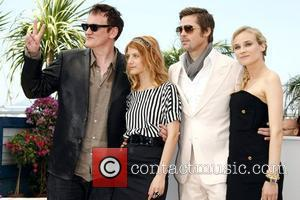 Quentin Tarantino, Brad Pitt and Melanie Laurent