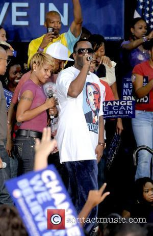 Mary J Blige and P Diddy Speaking At The Last Chance For Change Rally At Florida Memorial College