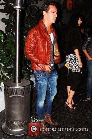 Jonathan Rhys Meyers poses for photographs outside Chateau Marmont Los Angeles, California - 30.05.09