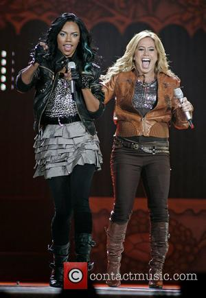 Kiely Williams and Sabrina Bryan The Cheetah Girls perform live in concert held at the American Airlines Arena. Miami, Florida,...