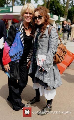 Helena Bonham Carter and Joanna Lumley