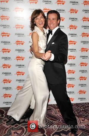 Fiona Bruce and Anton Du Beke Strictly Childline Ball held at the Park Lane Hotel - Arrivals  London, England...
