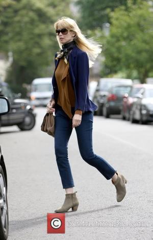 Claudia Schiffer leaving after dropping her children off at school London, England - 20.05.09