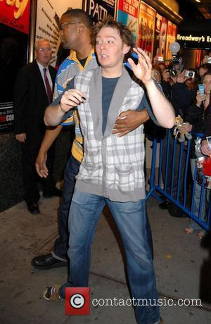 Clay Aiken signs autographs outside the Shubert Theatre after his performance in Broadway's 'Monty Python's Spamalot' New York City, USA...