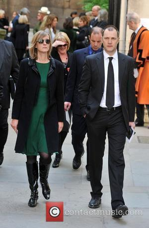 David Morrissey Sir Clement Freud's funeral held at St Bride's Church on Fleet Street  London, England - 24.04.09