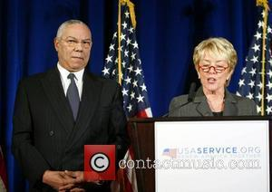 General Colin Powell and Barack Obama