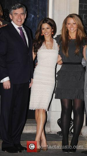 Gordon Brown, Cheryl Cole, Kimberly Walsh and 10 Downing Street