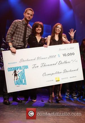 Damien Fahey, Donna Laganni and Mieka Pauley at Cosmopolitan magazine's Starlaunch concert held at Terminal 5 New York City, USA...