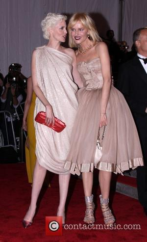 Nadja Auermann and Eva Herzigova 'The Model As Muse: Embodying Fashion' Costume Institute Gala at The Metropolitan Museum of Art...