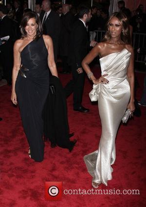 Donna Karen and Iman