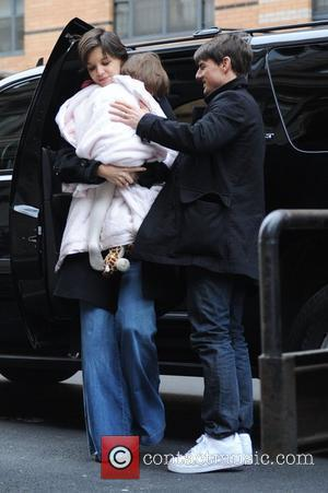 Katie Holmes, Suri Cruise and Tom Cruise