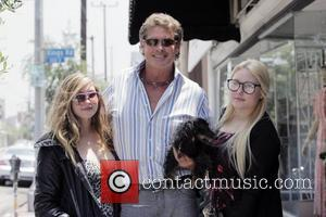 David Hasselhoff, His Daughters Taylor-ann Hasselhoff and Hayley Hasselhoff