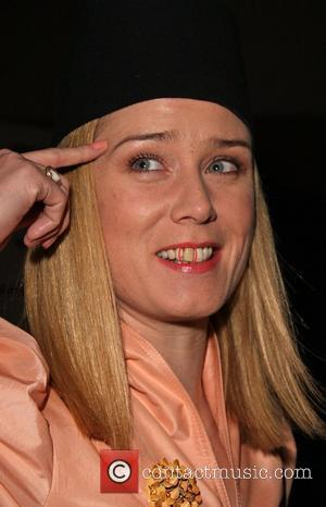 Roisin Murphy, showing a discoloured tooth Diesel 30th anniversary party held at the O2 arena London, England - 11.10.08