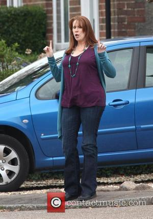 Catherine Tate filming on the set of the BBC's 'Doctor Who' Cardiff, Wales - 06.04.09