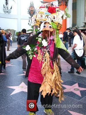 Dollhouse Dude Showing Off His New Look On The Hollywood Walk Of Fame