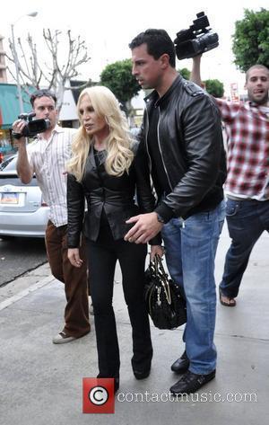 Donatella Versace outside Kitson on Robertson Boulevard Los Angeles, California - 01.11.08