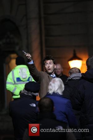 David Tennant filming a 'Doctor Who' special Wales, England - 27.02.09