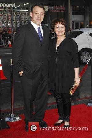 Sam Raimi and Adriana Barraza Los Angeles Premiere of 'Drag Me To Hell' held at Grauman's Chinese Theatre Hollywood, California...