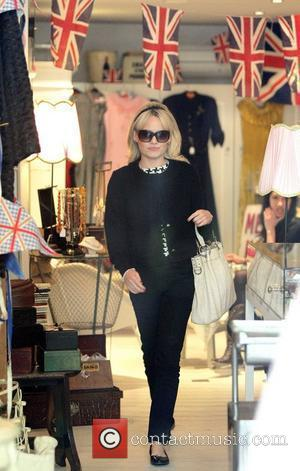 Duffy, real name Amiee Ann Duffy, visits a boutique in North London, dressed in black and wearing sunglasses inside London,...