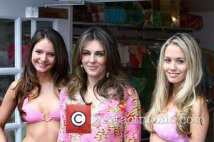 Elizabeth Hurley Attends a photocall for Elizabeth Hurley Beach Boutique at Bicester Village. The model/actress turned fashion designer launches her...