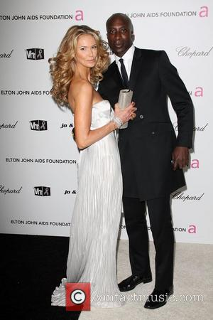 Elle Macpherson and Oswald Boateng 17th Annual Elton John AIDS Foundation Academy Awards (Oscars) Viewing Party  held at the...