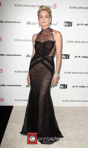 Sharon Stone wearing a very revealing dress 17th Annual Elton John AIDS Foundation Academy Awards (Oscars) Viewing Party  held...
