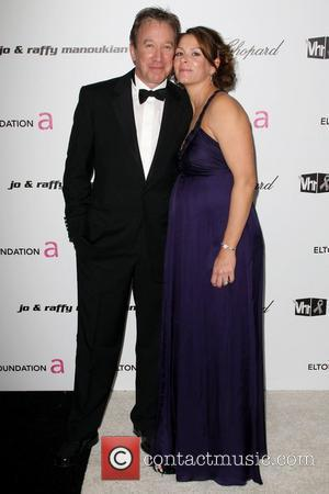 Tim Allen and Jane Hajduk 17th Annual Elton John AIDS Foundation Academy Awards (Oscars) Viewing Party held at the Pacific...