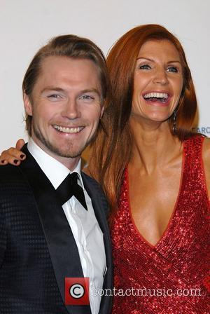 Ronan Keating & Wife The Emeralds and Ivy Ball for Cancer Research UK, held at Battersea Park London, England -...
