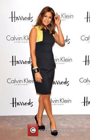 Eva Mendes and Calvin Klein