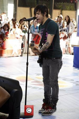 Pete Wentz of Fall Out Boy performing on the 'Today Show' at Studio 1A at the Rockefeller Center. New York...