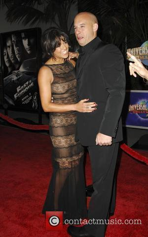 Michelle Rodriguez and Vin Diesel World Premiere Of 'Fast & Furious' held at the Gibson Amphitheatre Universal City, California -...