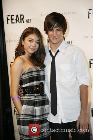 Sarah Hyland and Max Ehrich FEARnet 2nd anniversary party at the Cellar Bar in the Bryant Park Hotel New York...