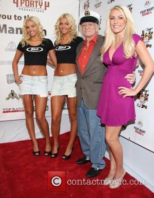 Karissa Shannon, Kristina Shannon, Hugh Hefner and Crystal Harris 'Fight Night' at the Playboy Mansion Los Angeles, California - 21.03.09