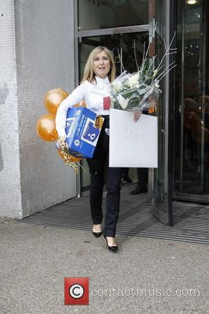 Fiona Phillips 'GMTV' presenter seen leaving the ITV studios in central London, after her last day working on the show....