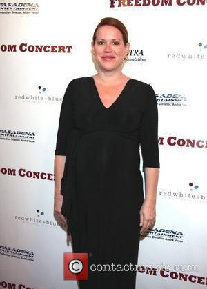 Molly Ringwald, six months pregnant with fraternal (boy and girl) twins Freedom Concert at the Pasadena Convention Center Pasadena, California...