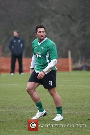 Gavin Henson trains with fellow Welsh Rugby Union (WRU) teammates in Vale of Glamorgan Glamorgan, Wales - 18.02.09