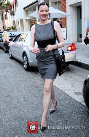 Geena Davis leaving Mr Chow restaurant in Beverly Hills Los Angeles, California - 16.10.08