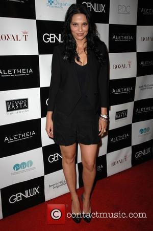 Navi Rawat Genlux Magazine's Brit week designer of the year fashion show and awards held at the Pacific design center...