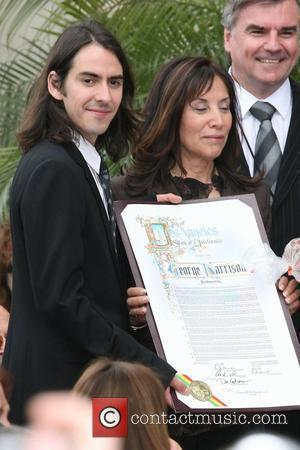 Dhani Harrison and Olivia Harrison Beatle George Harrison posthumously honored with star on the Hollywood Walk of Fame Los Angeles,...