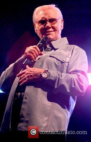 George Jones performs at the Silverton Hotel Casino Las Vegas, Nevada - 23.01.09