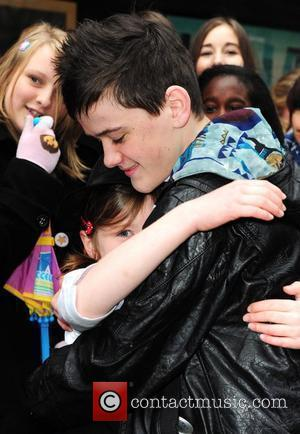 George Sampson  is greeted by fans as he premieres his new DVD 'Access 2 all Areas' at Curzon Mayfair...