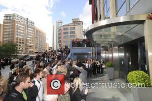A huge crowd awaits Girls Aloud outside the Malmaison Hotel Brimingham, England - 21.05.09
