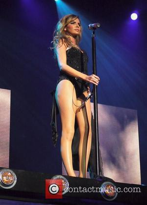 Nadine Coyle of Girls Aloud  performing live in concert as part of the Out of Control tour at the...