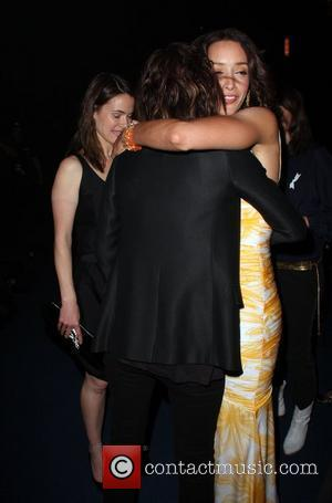Katherine Moennig and Jennifer Beals