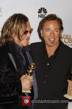 Mickey Rourke and Bruce Springsteen